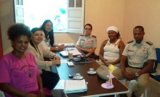 Capitão Joilson Lessa reuniu com a classe feminina para discutir estratégia durante o Outubro Rosa.