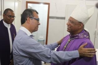 Prefeito Assis deu boas vindas ao líder religioso.