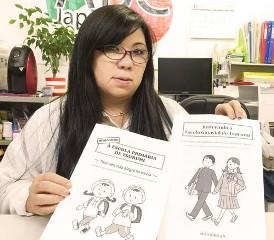 Michie Afuso, da ABC Japan, sugere um intercâmbio na área educacional entre Brasil e Japão (Foto: Ewerthon Tobace/