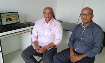Antônio Jorge (E) e Antônio Neto estão na região e visitaram a redação do CN