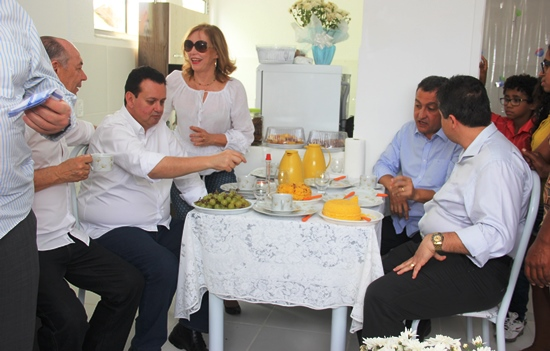 Alex da Piatã teve tempo para conversar com o governador.