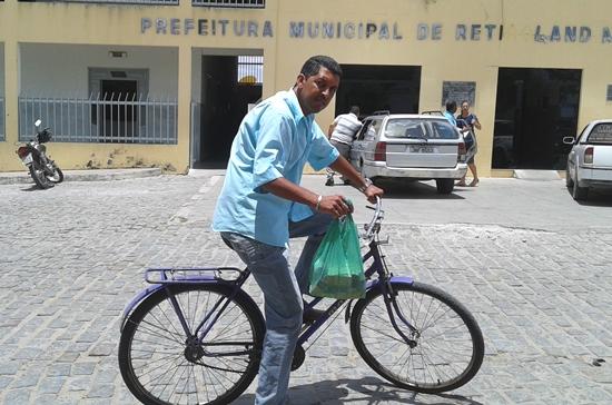 A bicicleta de Fernando é a mesma usada na campanha de 2012.