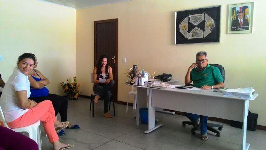 Reunião com o prefeito que o Sindicato alega que firmou compromisso mas não cumpriu.