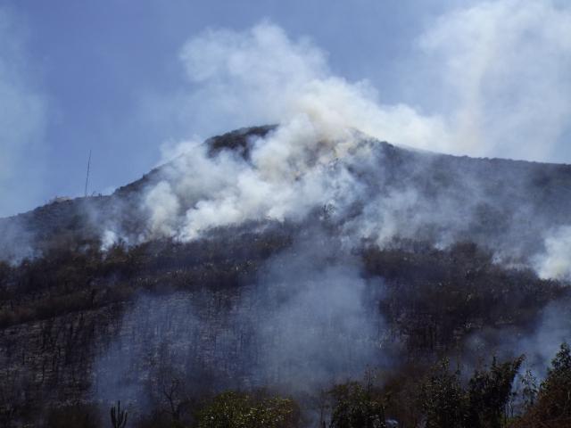 incendio na serra de monte santo