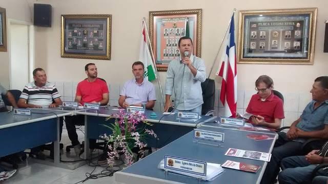 Juninho presidente do Diretório Municipal do PCdoB.