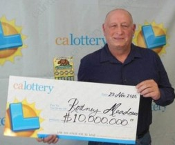 Meadows ganha duas vezes na loteria em cinco minutos.