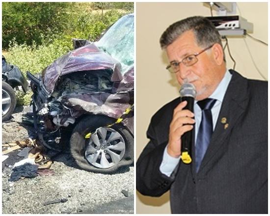 Na direita, acidente matou 4 pessoas. Esquerda, foto do vereador que foi morto em outro acidente.