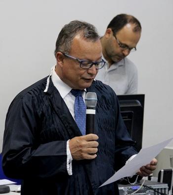 Dr Gerivaldo na leitura da Sentença