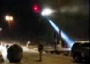 Imagem reproduzida pelo CN de um vídeo de pouca qualidade mostra que a operação contou com um helicóptero da GRAER.