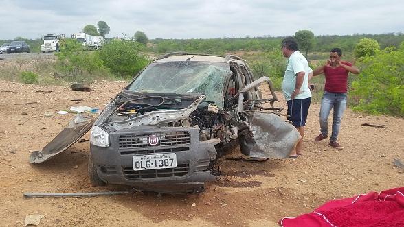 Veículo conduzido pela vítima fatal.