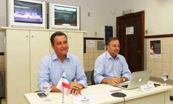 Governador e secretário de Saúde dialogaram com a presidente Dilma através de monitor de TV