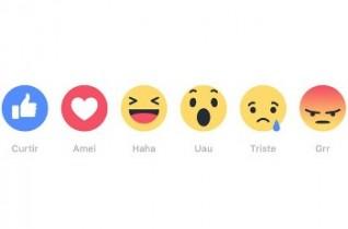 'Reações' são os novos botões do Facebook em forma de emoji e alternativos ao 'curtir'.