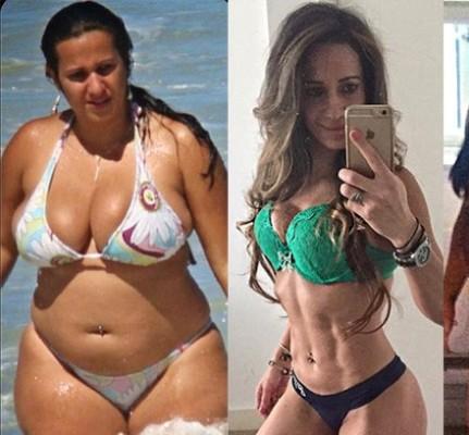 Antes e depois: Angela Crickmore.