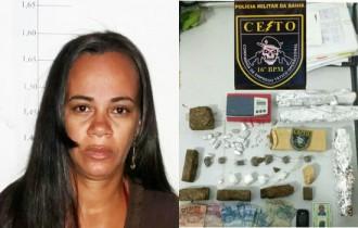 Segundo caso de prisão de mulher por trafico de drogas em Serrinha, em menos de 24 horas.