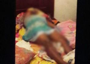 Pela posição ela pode ter sido agredida enquanto dormia.