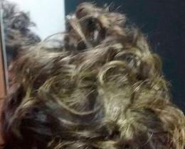 Vítima teve cabelo pintado.