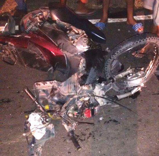 moto do acidente na ba 120
