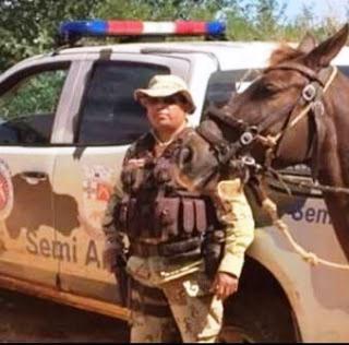 Sargento Souza morreu seis dias depois de ter sido baleado.