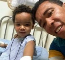Menino de dois anos teve ferimentos leves após acidente (Foto: Arquivo pessoal)