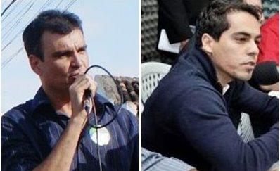 Junior do Max (E) é considerado nome forte para disputa, mas a oposição o tem como inelegível e não acredita que ele seja candidato.