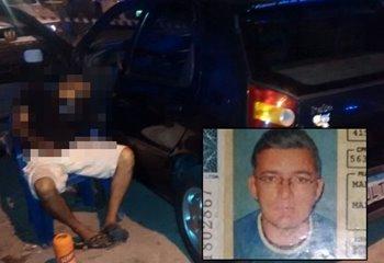 Vítima estava sentada encostada na morta do veículo