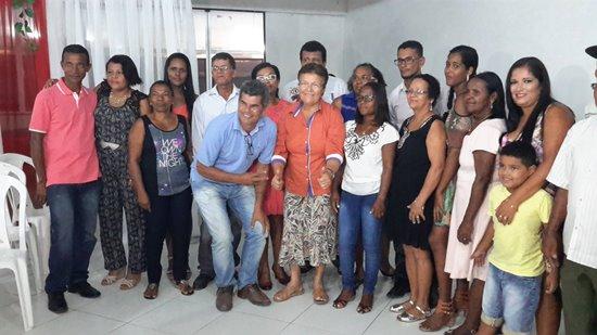 Gika ao lado da companheira Fátima Nunes durante a posse da nova diretoria do SINTRAF de Serrinha