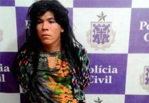 Preso tenta fugir de delegacia na Bahia vestido de mulher.