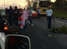 O protesto foi encerrado por volta das 7h20