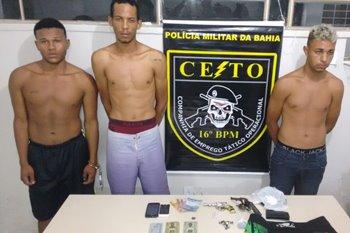 Segundo informações o trio é suspeito de participar de diversos assaltos na cidade.