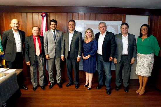 Governador Rui Costa se reúne com deputados do PSD(Partido Social Democrático). Foto Mateus Pereira/GOVBA