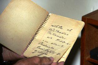 Nesta caderneta tem os nomes dos primeiros 70 afilhados