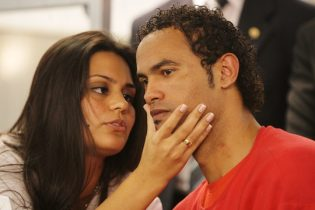 Ingrid e Bruno, na época do julgamento