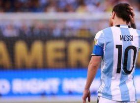 Messi declarou que não atuará mais pela equipe de seu país.
