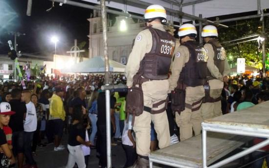 Policiamento teve visão privilegiado de toda praça