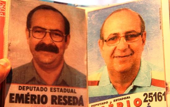 Ex-deputado Emério no primeiro e último dos cinco mandatos | Foto: reprodução Raimundo Mascarenhas