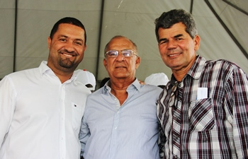 Osni Cardoso, Claudionor Ferreira e Gika Lopes | Foto: Raimundo Mascarenhas
