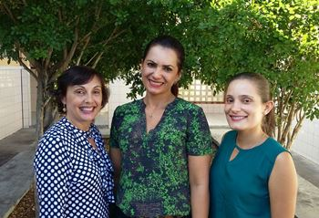 Esquerda para á direita: Vilma, Fabricia e Emanuelle.