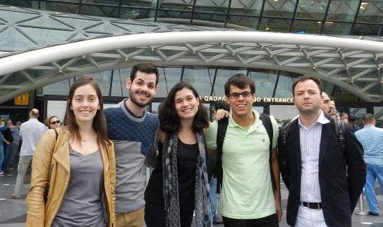 Junior (de verde) ao lado dos outros quatro melhores colocados do Brasil