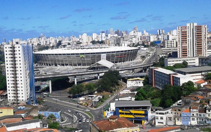 Falta pouco mais de 24 horas para a bola rolar na Arena Fonte Nova | Foto Raimundo Mascarenhas