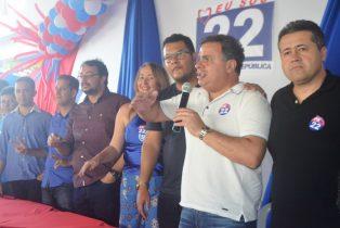 Presidente do PR deputado João Bacelar e ao seu lado esquerdo deputado Alex da Piatã | Foto: Teones Araújo