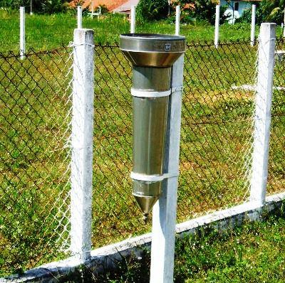Cada pingo de chuva que entrar nesse aparelho determina a quantidade em milímetro