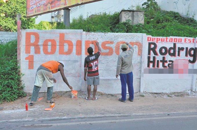 Pintura de muro está proibida em propriedade pública ou privada