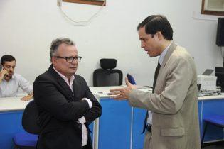Juiz Gerivaldo Neiva (E) e promotor Tiago Pacheco | Foto: Raimundo Mascarenhas