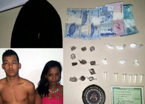 Casal foi autuado em flagrante por tráfico de drogas pela PM
