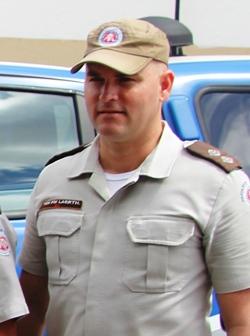 Tenente Laerth comandante da 4ª Cia