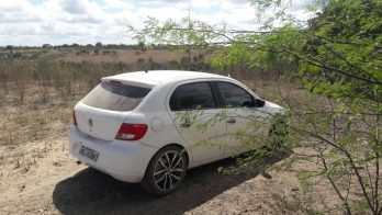 Carro encontrado a cerca de 15 km do local do crime