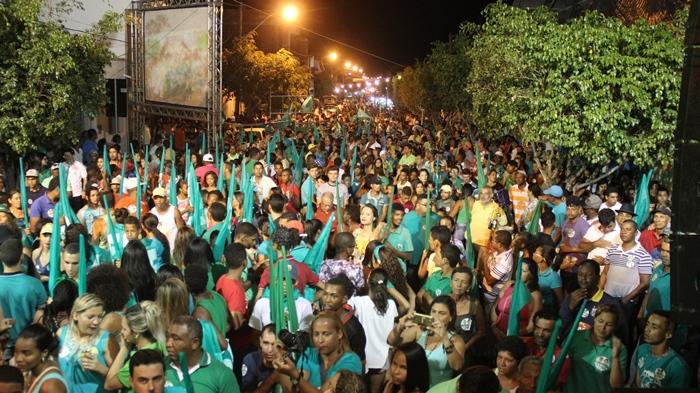 Avenida Eliel Martins ficou lotada durante o ato político | Foto: Raimundo Mascarenhas