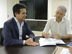 Eduardo Salles idealizador do projeto e Ney Campelo