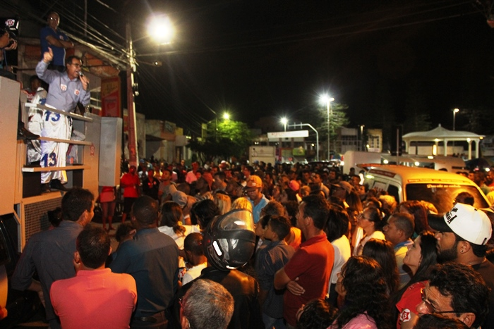 Discurso de Assis da Praça da Matriz   Foto: Raimundo Mascarenhas