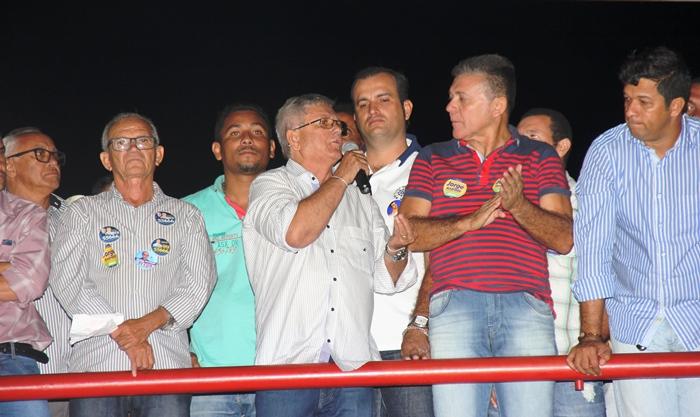 Assim como em 2012, Jorge aposta na reeleição com João Batista na vice | Foto: Raimundo Mascarenhas